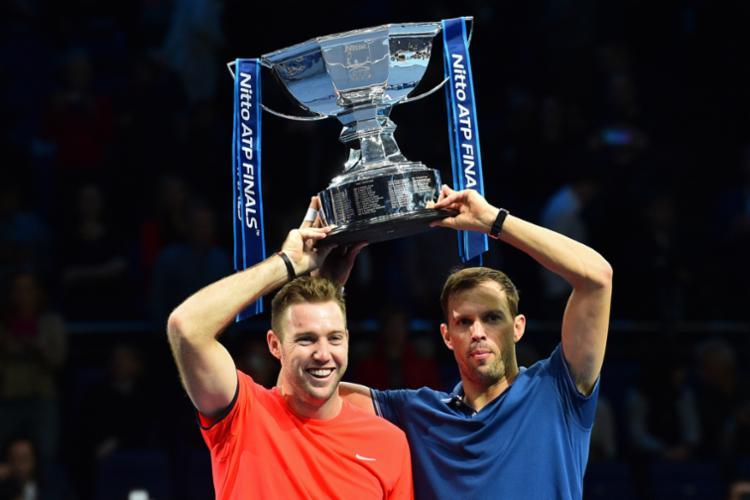 Este é o quinto título de duplas do ATP Finals conquistado por Mike Bryan - Foto: Glyn Kirk   AFP