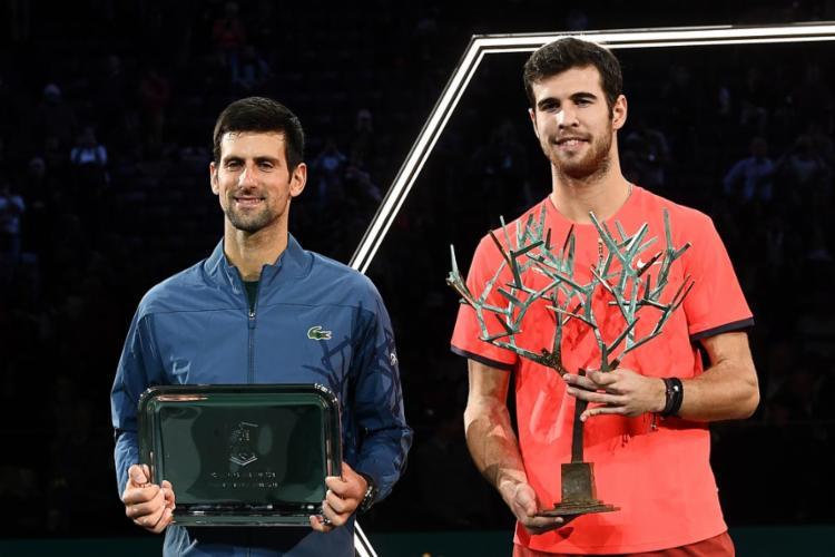 Atual 18º do mundo, Khachanov só tinha três títulos no currículo até então, todos de nível ATP 250 - Foto: Anne-Christine Poujolat l AFP