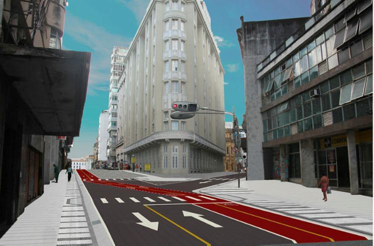 Rua Chile passa por projeto de requalificação, conforme mostra a projeção - Foto: Divulgação | Gov-BA