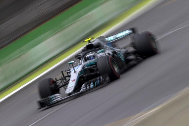 O piloto finlandês foi o mais rápido em Interlagos, com o tempo de 1min08s846 - Foto: Mauro Pimentel l AFP