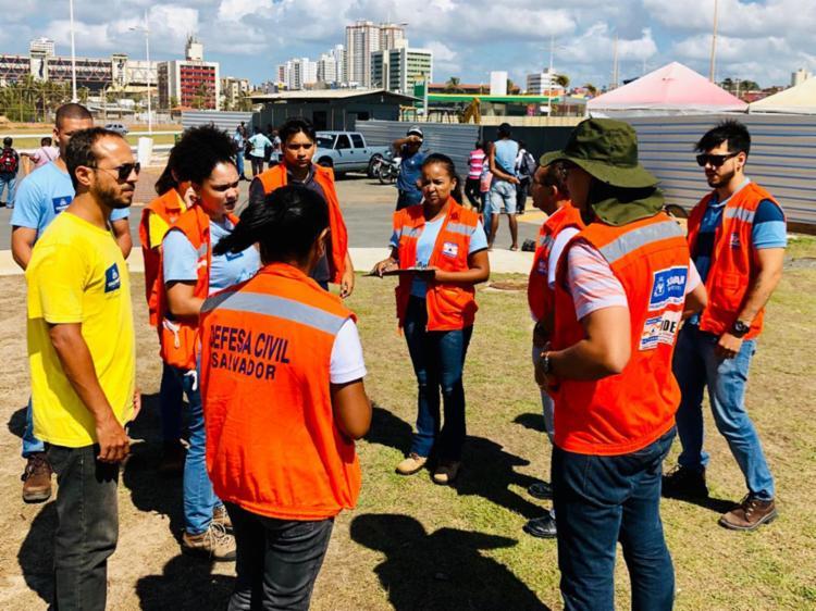 Dez técnicos fizeram uma varredura na Arena Daniela Mercury, Boca do Rio - Foto: Divulgação | SECOM Salvador