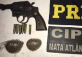 Motociclista é preso com arma na BR-418; adolescente apreendido com droga em ônibus | Foto: Divulgação l PRF