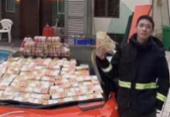 Polícia prende homem que jogou dinheiro de prédio em Hong Kong | Foto: Mia Tam | Twitter | Reprodução