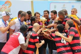 O Vitória garantiu a taça de campeão da Libertadores da América neste domingo, 2, no Parque Olímpico do Rio de Janeiro - Hoão VItal/CBSB