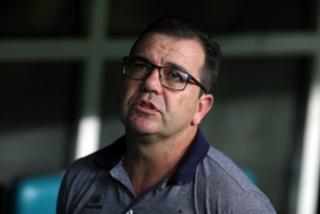"""""""Quando cheguei aqui, achei que todo mundo tinha lança apontada para mim"""", disse o técnico do Bahia, Enderson Moreira - Felipe Oliveira / Divulgação / EC Bahia"""