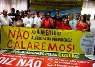 Servidores públicos estaduais aprovam paralisação contra reajuste na alíquota previdenciária - Reprodução/ Facebook/ APLB