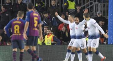 Com gol de Lucas, Tottenham arranca empate com o Barça e elimina Inter - Josep Lago/AFP