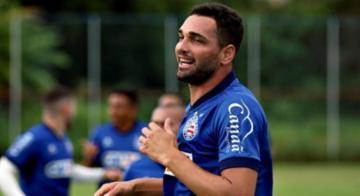 Em 25 jogos com a camisa do Bahia, Gilberto marcou oito tentos pelo Brasileiro e um na Sul-Americana - Felipe Oliveira/EC Bahia/Divulgação