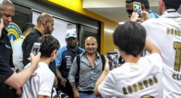Festa da torcida santista surpreende Sampaoli - Rodrigo Coca / Santos FC