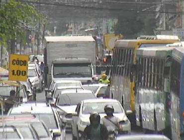 Protesto provoca congestionamento na região - Foto: Reprodução | Twitter