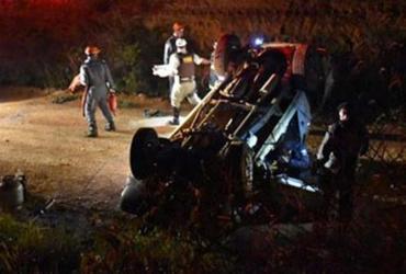 Dois homens ficam feridos em capotamento de caminhonete na BA-262 | Reprodução | Blog do Anderson