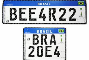 Portaria com exigências para implantação da placa Mercosul na Bahia é suspensa | Divulgação