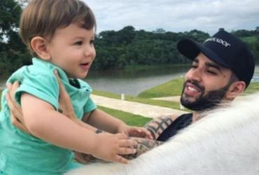 Pela primeira vez, Gusttavo Lima mostra cavalo para o filho | Reprodução