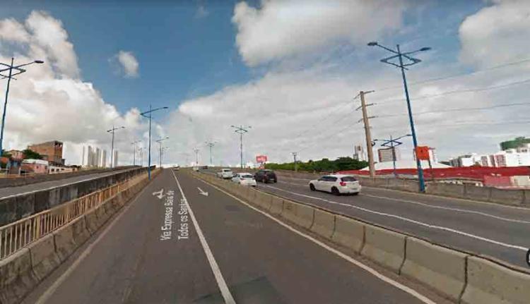 O acidente ocorreu em frente ao Auto Shopping - Foto: Reprodução | Google Maps