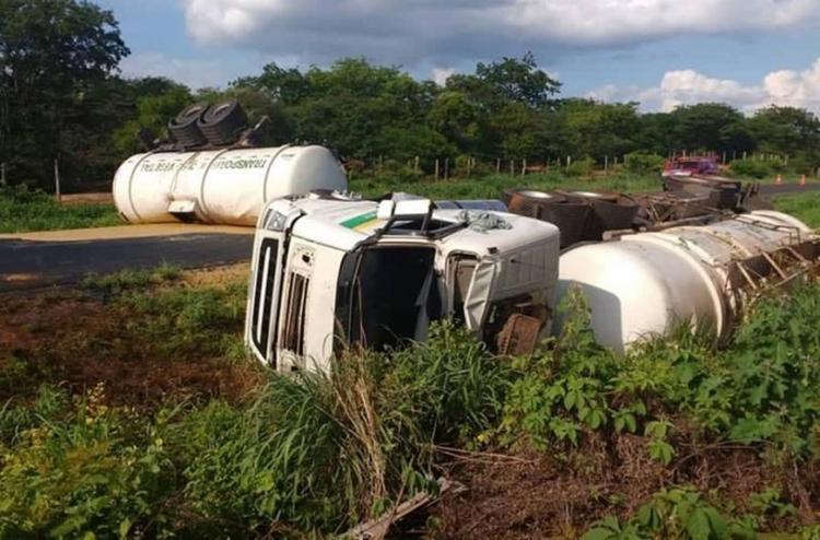 O acidente aconteceu em um trecho da BA-172 - Foto: Reprodução   Gazeta 5