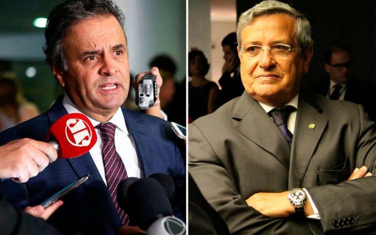 Aécio é o principal alvo da operação; PF também investiga Benito Gama
