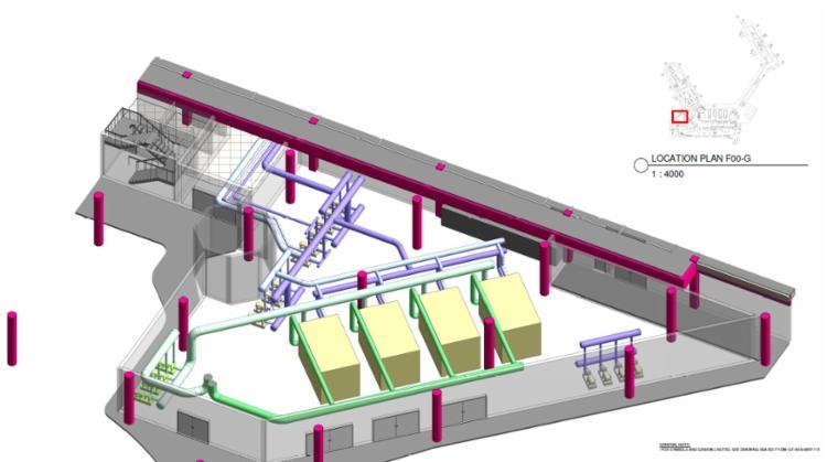 A adequação é necessária para a instalação da nova central de água gelada (CAG), prevista para começar a operar em abril de 2019 - Foto: Divulgação