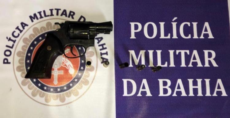 Arma foi apreendida após o confronto - Foto: Divulgação | SSP-BA
