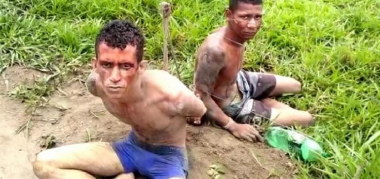 Gutemberg da Hora Santos e Marcelo Silva Santos foram encontrados amarrados e machucados. - Foto: Divulgação   RADAR 64