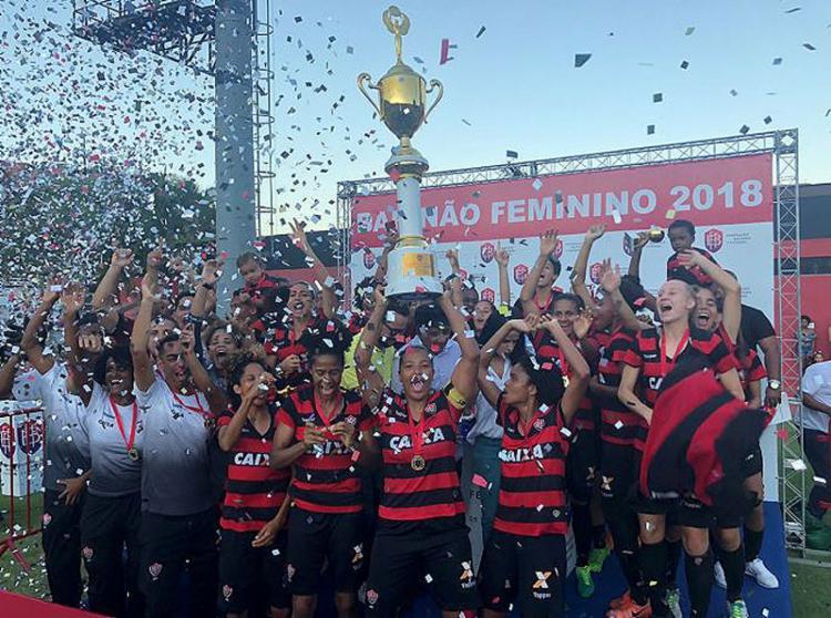 O triunfo por 2 a 0 no Barradão coroou uma campanha espetacular da Leoas na competição - Foto: Maurícia da Matta l EC Vitória