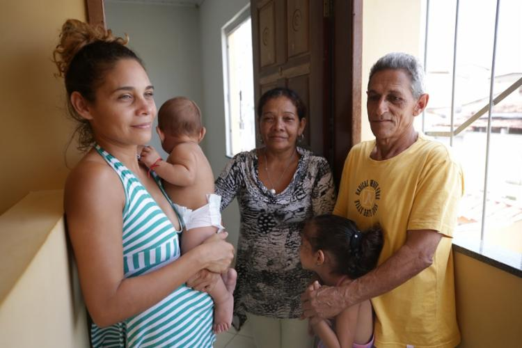 Yerili atravessou a fronteira com o Brasil com a família aos 7 meses de gravidez. Foto: Joá Souza / Ag. A TARDE