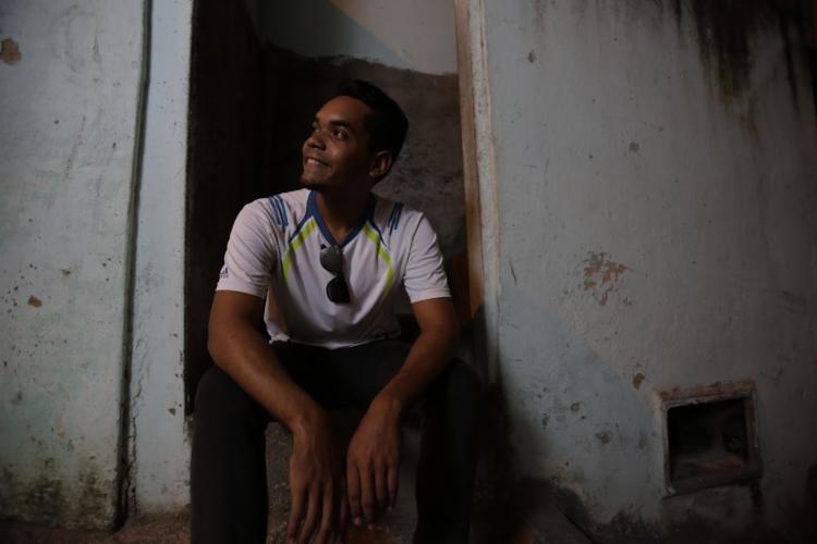 José Angel é um dos 30 venezuelanos que fizeram parte da 14ª etapa de interiorização. Foto: Raphael Müller / Ag. A TARDE