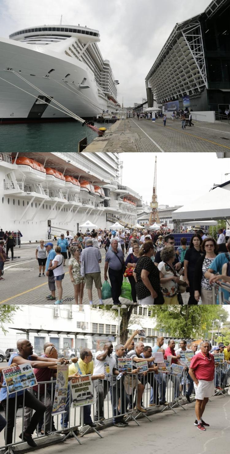 Navio trouxe 5.210 visitantes para a capital baiana