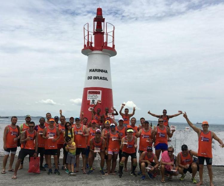 Maratonistas fizeram último treino para enfrentar o longo percurso do desafio - Foto: Waldir Gomes | Divulgação