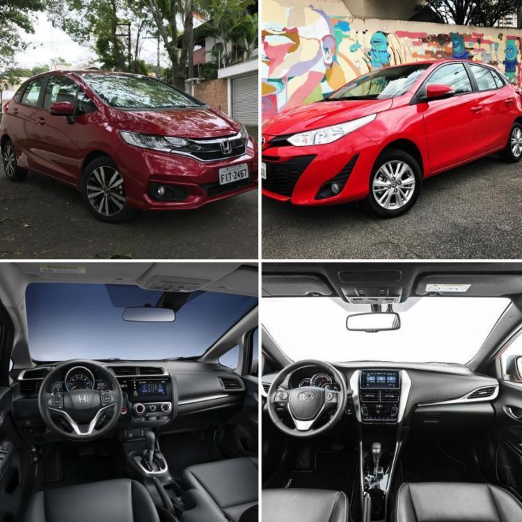 Ambos na versão topo de linha, Honda Fit encara Toyota Yaris mostrando que o consumidor é que ganha nesta briga - Foto: MOTOR, AUTOS, CARROS, HONDA, TOYOTA