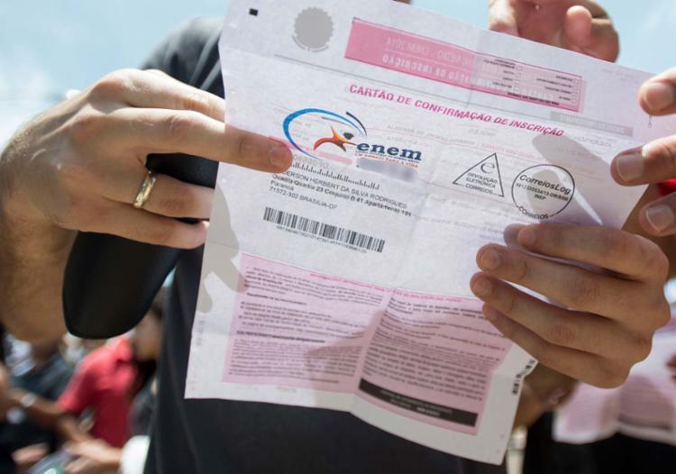 São candidatos que tiveram o exame cancelado devido a intercorrências logísticas - Foto: Tomaz Silva   Agência Brasil