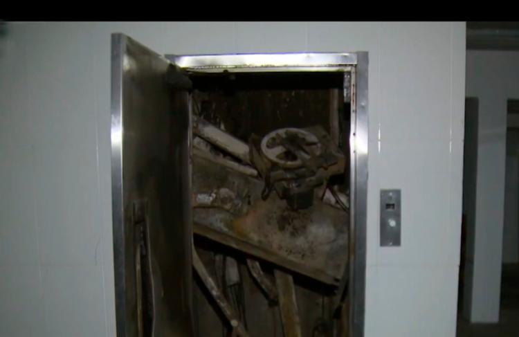 Elevador passa por serviço de manutenção quando houve uma explosão - Foto: Reprodução   TV Bahia