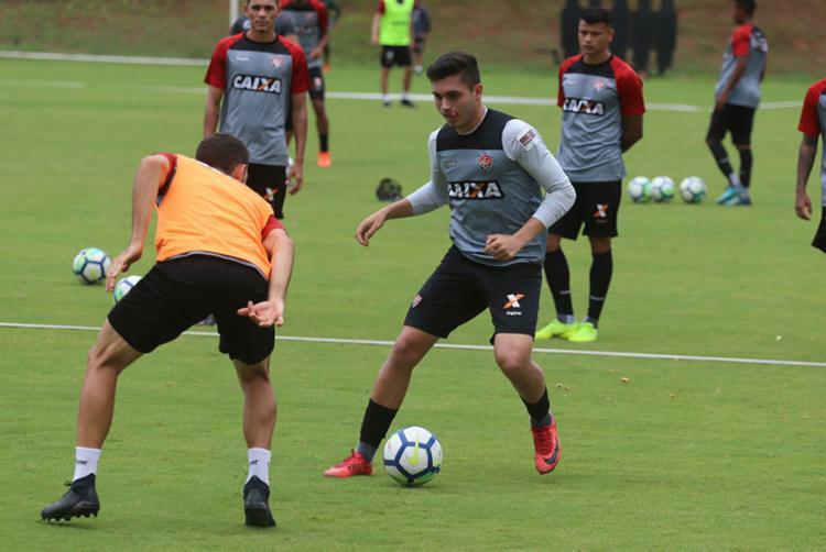 Atletas treinam para superar o já campeão Palmeiras - Foto: Maurícia da Matta | EC Vitória | Divulgação