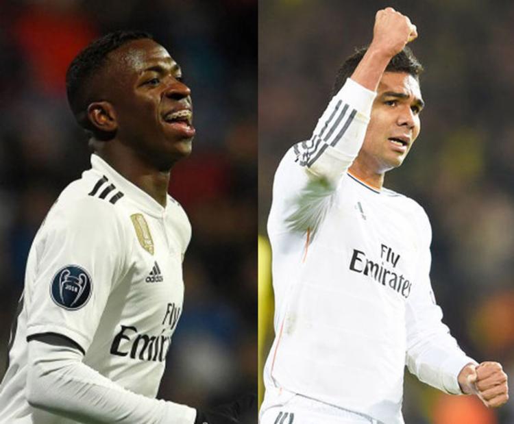 Real Madrid inscreveu 28 jogadores na competição, entre eles os brasileiros Casemiro e Vinicius Junior - Foto: AFP