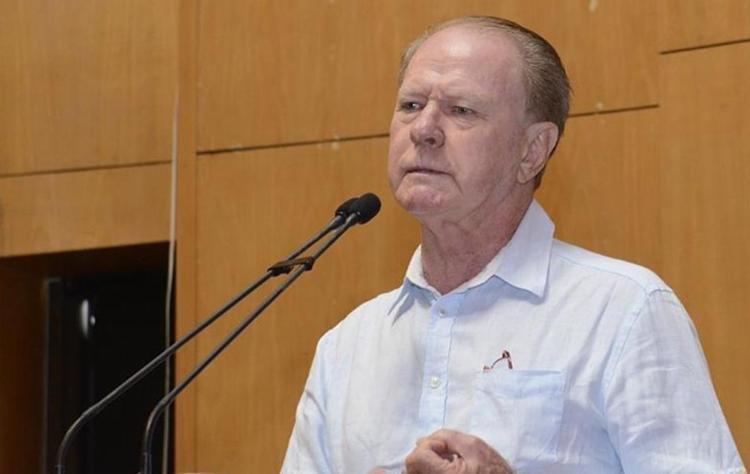 Suspeito de cometer o crime contra o político foi preso e presta esclarecimentos na delegacia - Foto: Tonico l Ales