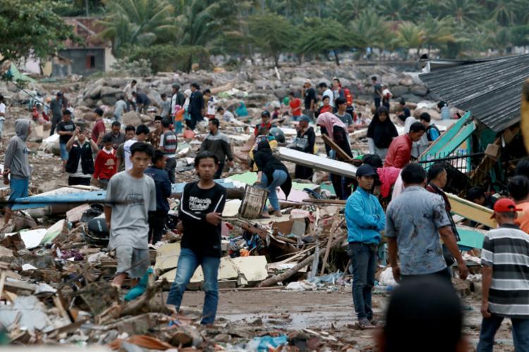 Até o momento, foram registradas 222 mortes, com 843 feridos e 28 desaparecidos - Foto: Ferdi Awed | AFP
