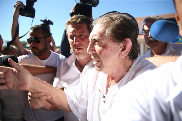 O médium compareceu à Casa Dom Inácio de Loyola, em Abadiânia (GO) - Foto: Marcelo Camargo   Agência Brasil