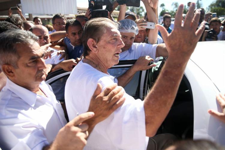 João de Deus se entregou na tarde desse domingo à polícia e foi preso - Foto: Marcelo Camargo l Agência Brasil