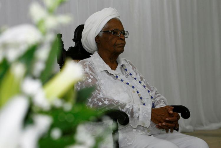 A sacerdotisa de 93 anos está internada no Hospital Incar - Foto: Joá Souza | Ag. A TARDE | 12.09.2014