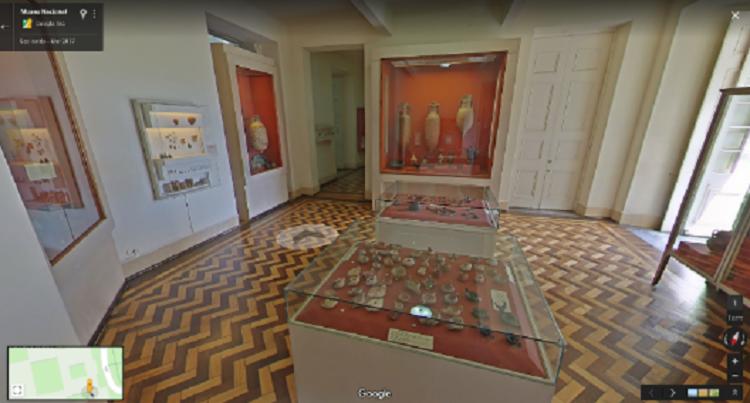Através da plataforma, é possível conhecer o Museu Nacional, as exposições e as peças importantes que foram abrigadas antes de serem atingidas pelo incêndio no Museu - Foto: Reprodução