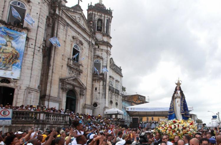 Nossa Senhora da Conceição é a padroeira da Bahia - Foto: Adilton Venegeroles | Ag. A TARDE | 8.12.2016