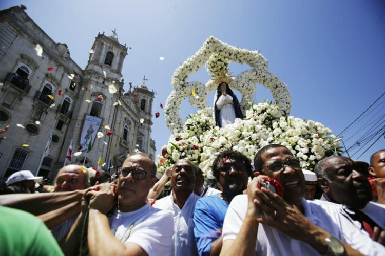 Nossa Senhora da Conceição recebeu série de homenagens na Basílica do Comércio - Foto: Raul Spinassé | Ag. A TARDE