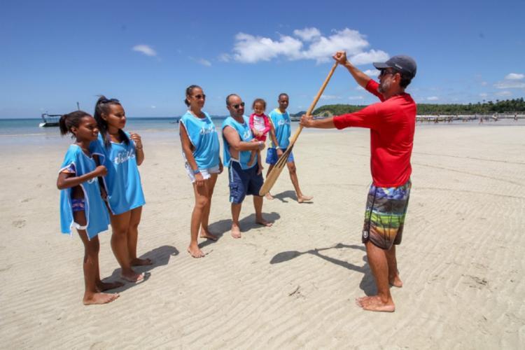 Com oferta gratuita, o evento conta com o stand up paddle, patins, skate longboard, futevôlei, frescobol e canoa havaiana - Foto: Divugação
