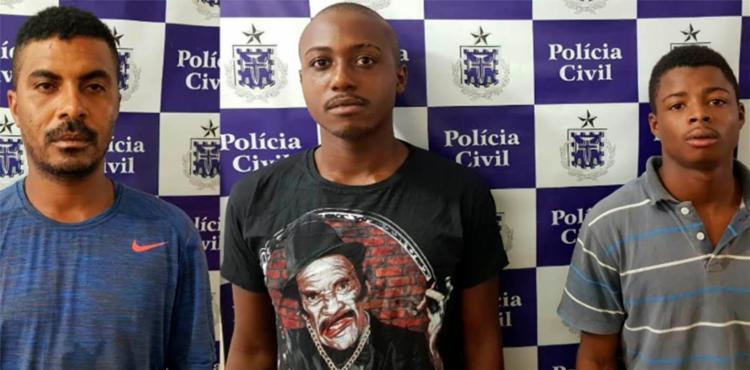 Homens são suspeitos de latrocínio e roubos ocorridos em Rafael Jambeiro - Foto: Divulgação | Polícia Civil