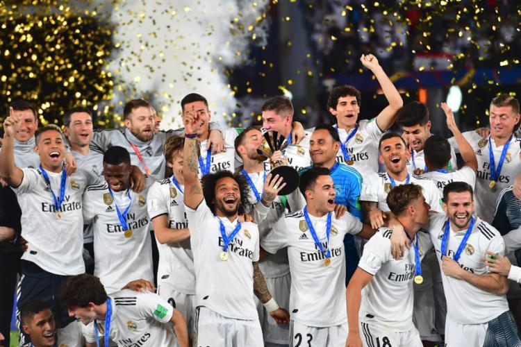 Equipe espanhola confirmou o favoritismo diante do anfitrião Al Ain e ficou com o troféu - Foto: Giuseppe Cacace l AFP