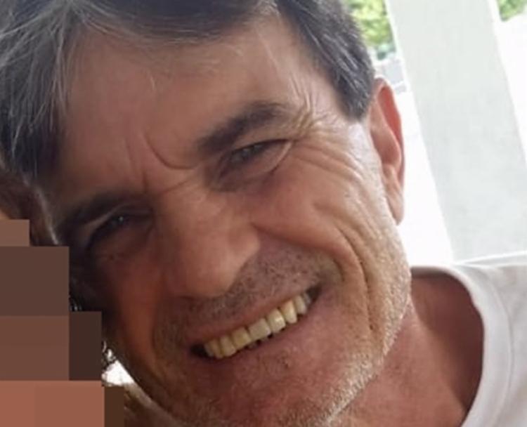 O motociclista João Arcângelo teve a garganta cortada por uma linha de pipa com cerol.