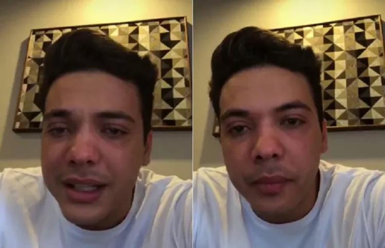 Logo após com a pensão do filho, Safadão fez um video no instagram e chegou até chorar,