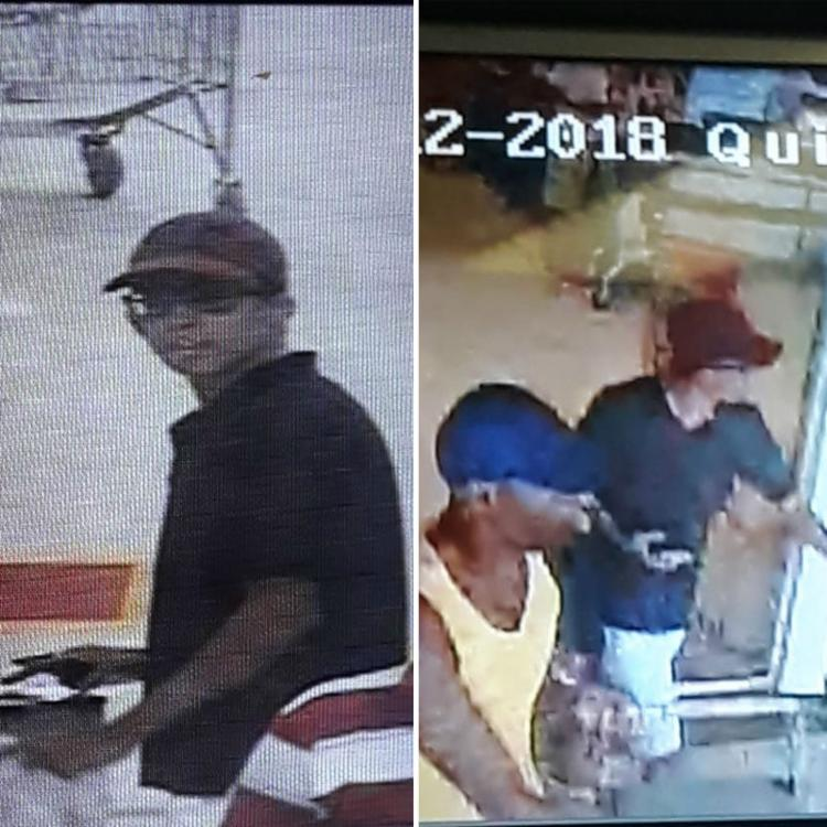 As imagens registradas por câmeras de segurança irão auxiliar na identificação dos homens - Foto: SSP-BA