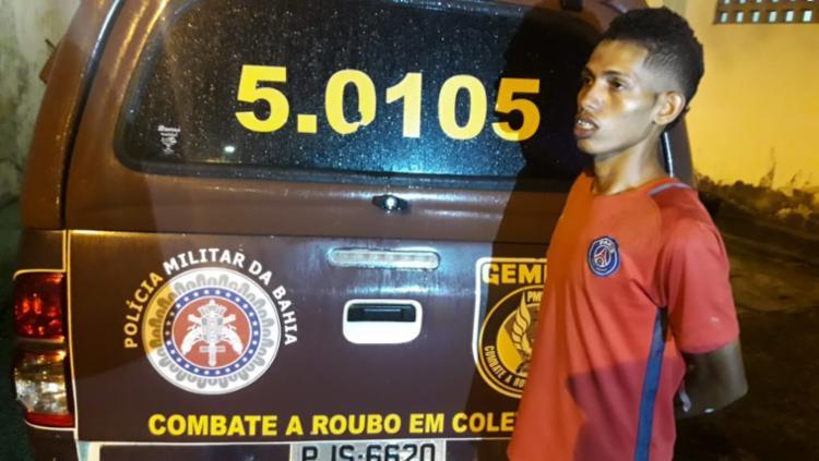 Suspeito foi reconhecido, levado para o Grupo Especial de Repressão a Roubos em Coletivos (Gerrc) e confirmou participar do crime - Foto: Divulgação | SSP-BA