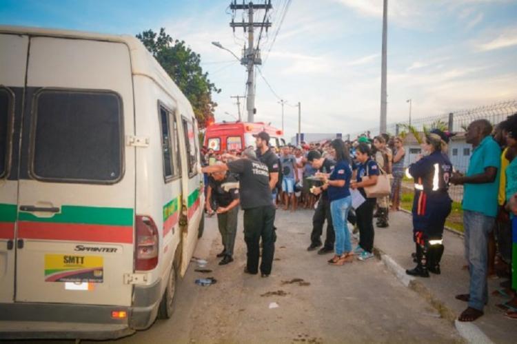 Idosa foi atingida por vários tiros na tarde deste sábado - Foto: Reprodução | Ed Santos | Acorda Cidade