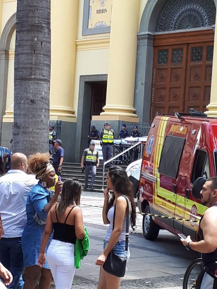 Na hora dos disparos a polícia estava mobilizada para um roubo a banco no centro de Campinas - Foto: Reprodução